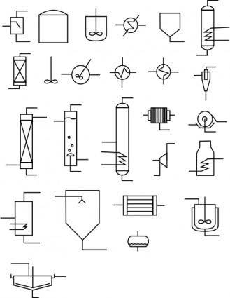 free vector Chemical Flowsheet Elements clip art