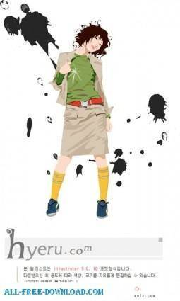 Free fashion vector 391