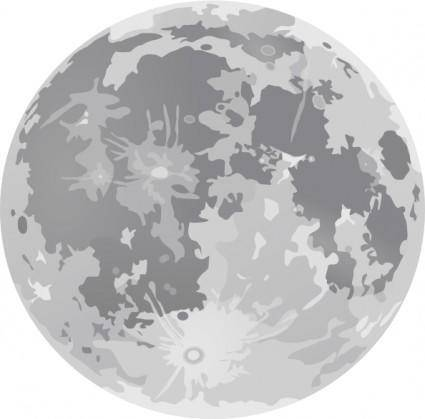 free vector Full Moon clip art