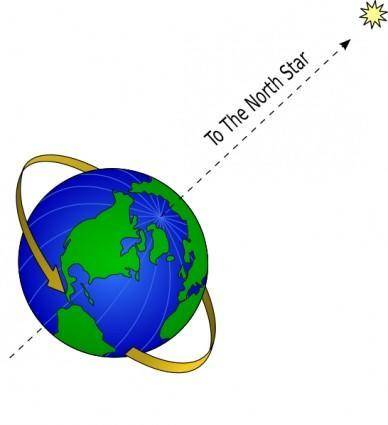 free vector Earth And North Star clip art