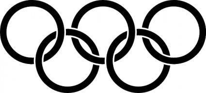 Olympic Rings Black clip art