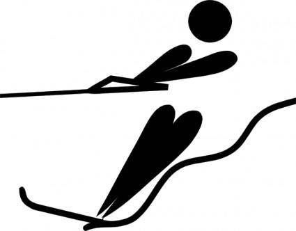 free vector Olympic Sports Water Skiing Pictogram clip art