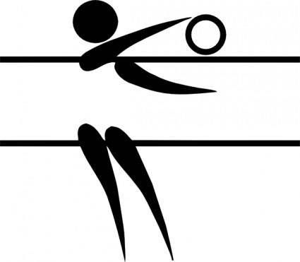 Olympic Sports Volleyball Indoor Pictogram clip art
