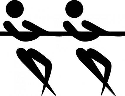 Olympic Sports Tug Of War Pictogram clip art