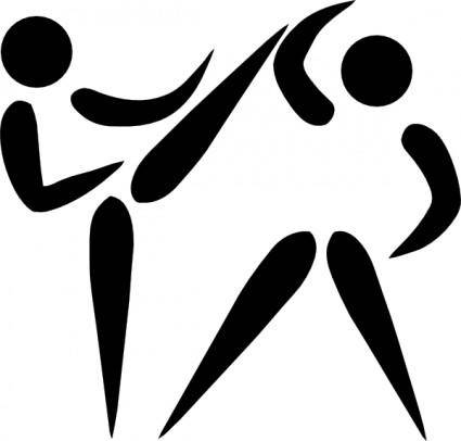 Olympic Sports Taekwondo Pictogram clip art