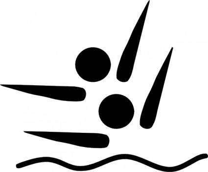 free vector Olympic Sports Synchronized Swimming Pictogram clip art