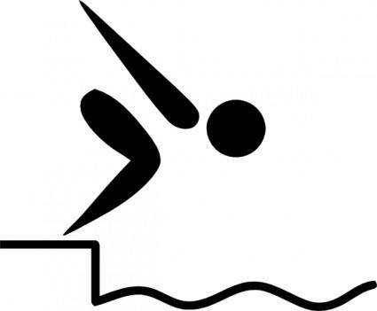 Olympic Sports Swimming Pictogram clip art