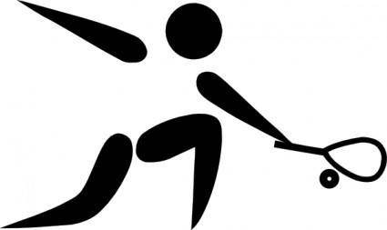 Olympic Sports Squash Pictogram clip art
