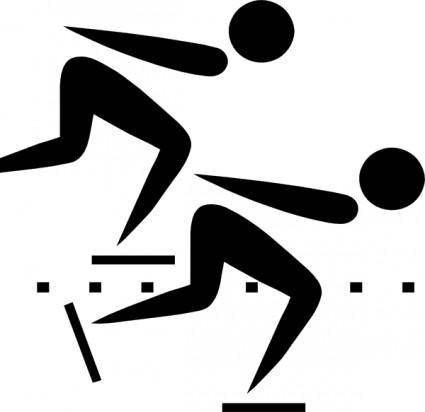 free vector Olympic Sports Speed Skating Pictogram clip art