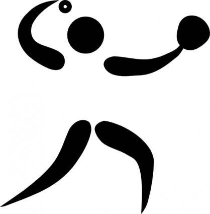 free vector Olympic Sports Softball Pictogram clip art