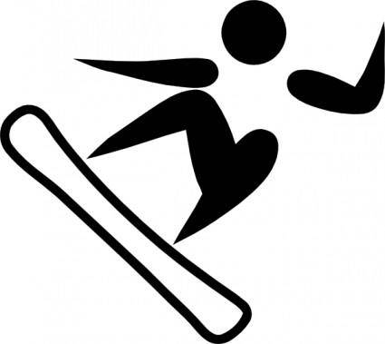 free vector Olympic Sports Snowboarding Pictogram clip art