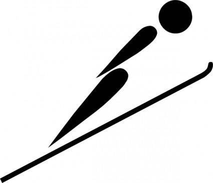 free vector Olympic Sports Ski Jumping Pictogram clip art