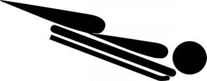 free vector Olympic Sports Skeleton Pictogram clip art