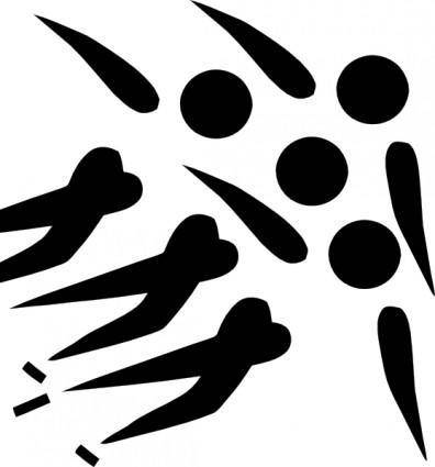 Olympic Sports Short Track Speed Skating Pictogram clip art