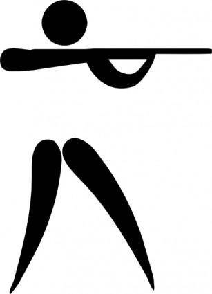 Olympic Sports Shooting Pictogram clip art