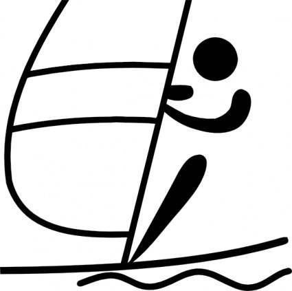 free vector Olympic Sports Sailing Pictogram clip art
