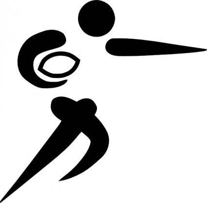Olympic Sports Rugby Union Pictogram clip art