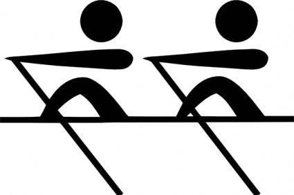 free vector Olympic Sports Rowing Pictogram clip art
