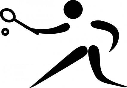 Olympic Sports Racquets Pictogram clip art