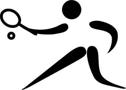 free vector Olympic Sports Pictograms Olympic Sports Jeu De Paume Pictogram clip art