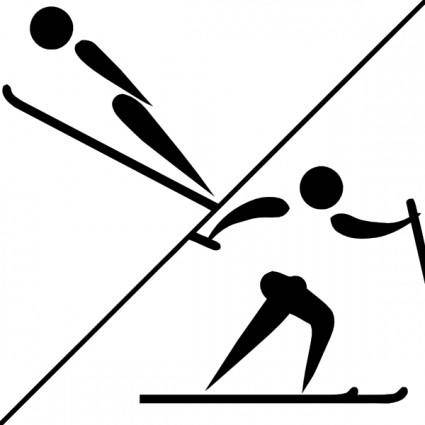free vector Olympic Sports Nordic Combined Pictogram clip art