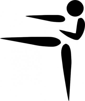 free vector Olympic Sports Karate Pictogram clip art
