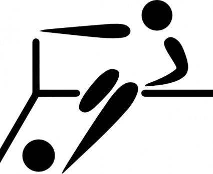 free vector Olympic Sports Futsal Pictogram clip art