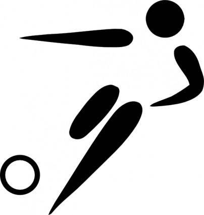 Olympic Sports Football Pictogram clip art