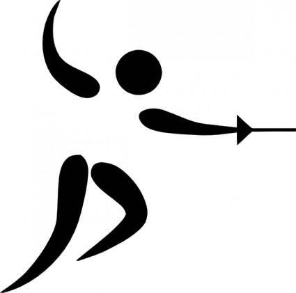 free vector Olympic Sports Fencing Pictogram clip art