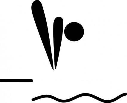 free vector Olympic Sports Diving Pictogram clip art