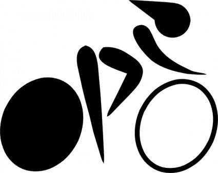 free vector Olympic Sports Cycling Track Pictogram clip art