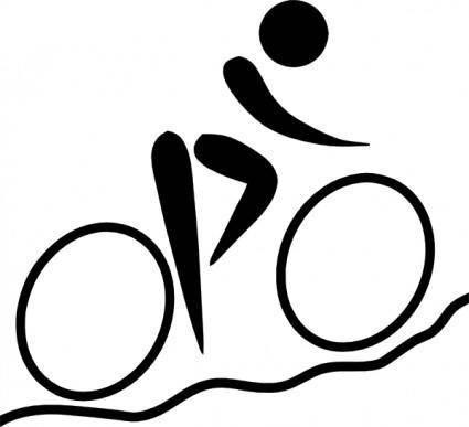 Olympic Sports Cycling Mountain Biking Pictogram clip art