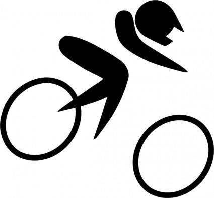 free vector Olympic Sports Cycling Bmx Pictogram clip art