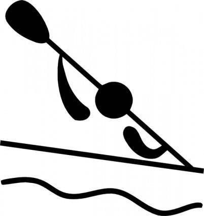 free vector Olympic Sports Canoeing Slalom Pictogram clip art