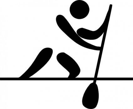 Olympic Sports Canoeing Flatwater Pictogram clip art