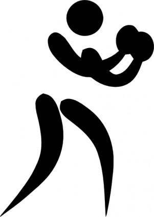 Olympic Sports Boxing Pictogram clip art