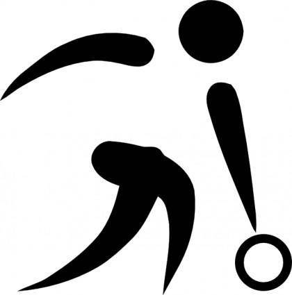 free vector Olympic Sports Bowling Pictogram clip art