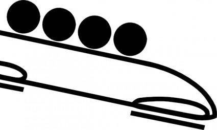 Olympic Sports Bobsleigh Pictogram clip art