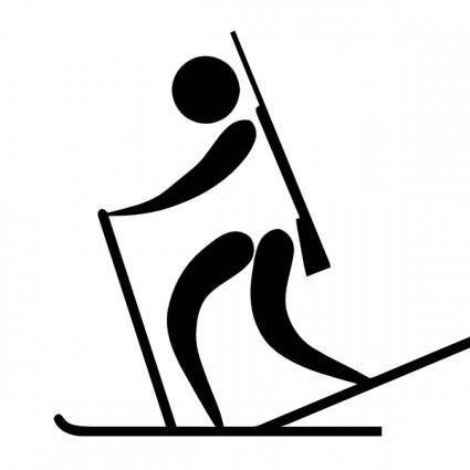free vector Olympic Sports Biathlon Pictogram clip art