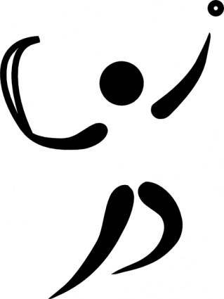 Olympic Sports Basque Pelota Pictogram clip art