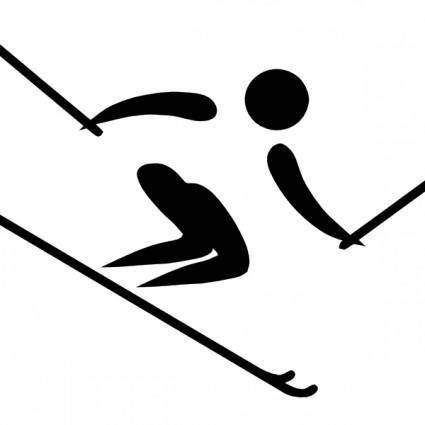 Olympic Sports Alpine Skiing Pictogram clip art