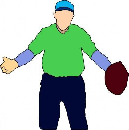Baseball Player clip art