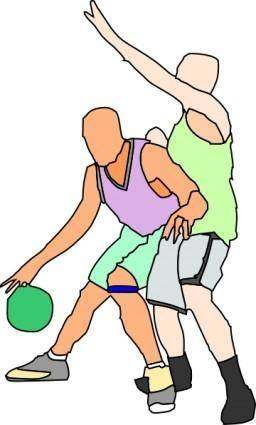 Basket Ball Players clip art