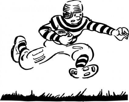 free vector Old Time Football Player clip art