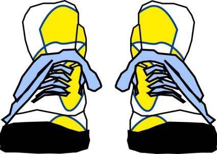 free vector Hightop Sneakers clip art