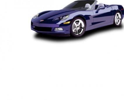 Convertible Sport Car clip art