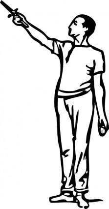 Fencing Preliminary Position clip art