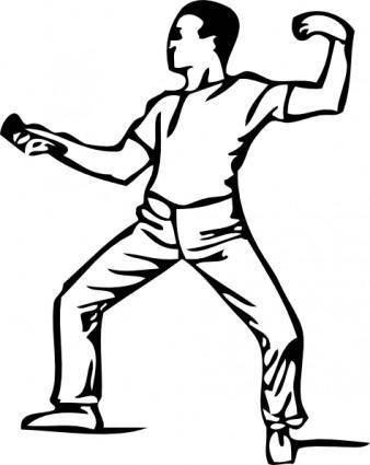 Fencing Guard clip art