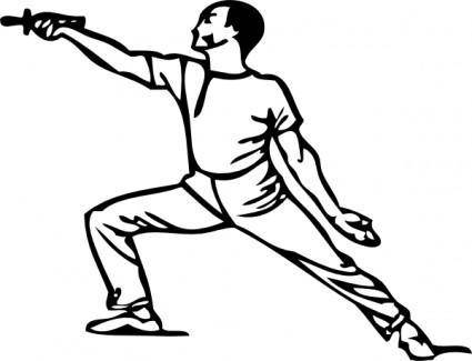 Fencing Lunge clip art