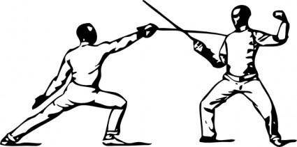 free vector Fencing Parry Of Sixte clip art